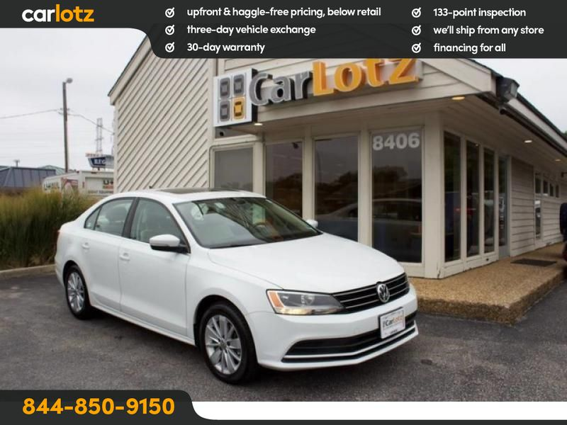 Pre-Owned 2015 Volkswagen Jetta 2.0L TDI SE w/Connectivity