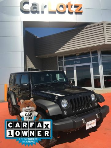 Pre-Owned 2016 Jeep Wrangler Unlimited Black Bear